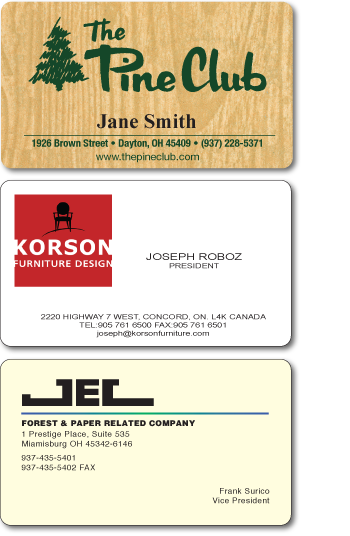 Plastic and laminated business cards ilc plastic business cards reheart Gallery